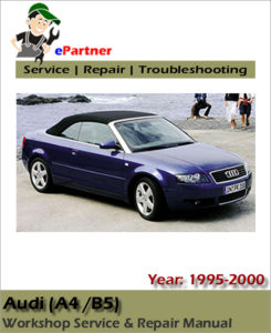 Audi A4 B5 Service Workshop Repair Manual 1995 1996 1997 1998 1999 2000