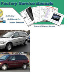 1994 1995 1996 Town Contry As Dodge Caravan Voyager Factory Serivce Manuals